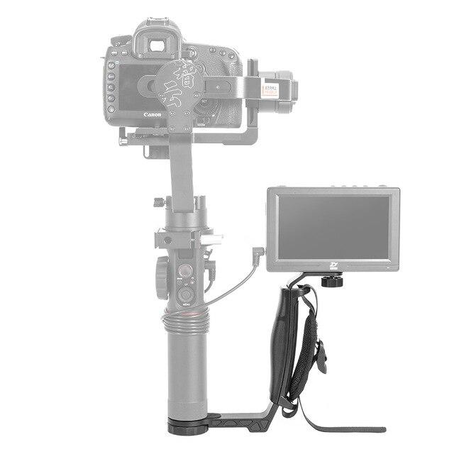 ZhiYun Crane/Guindaste 2 L bracket Pega para o Monitor Microfone Universal Luz que tem 1/4 Conector de Porta Dupla titular