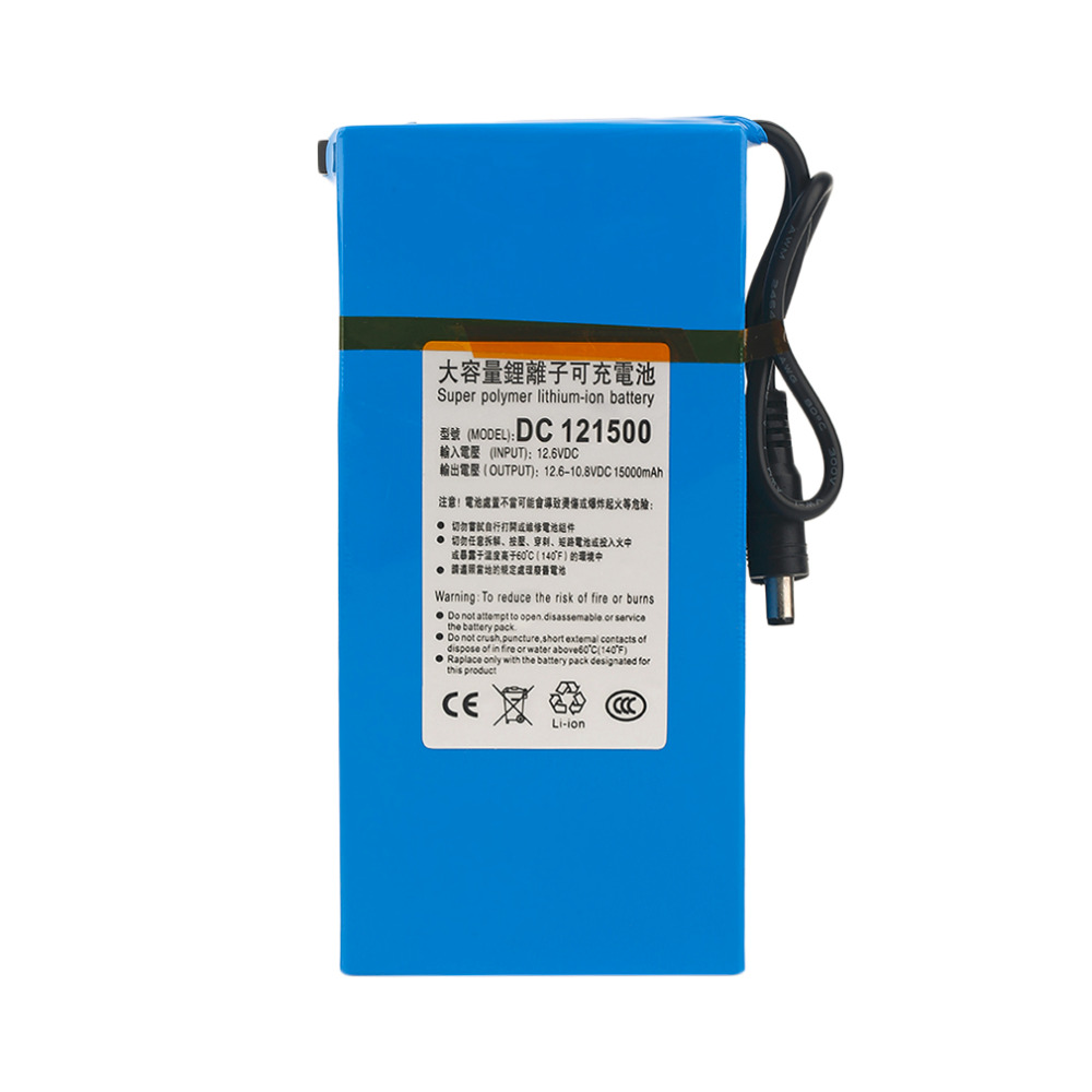 DC 12V Super Strong 10000MAH Powerful Rechargeable Li-ion Battery Backup Li-ion Battery For CCTV Camera Wireless Transmitter