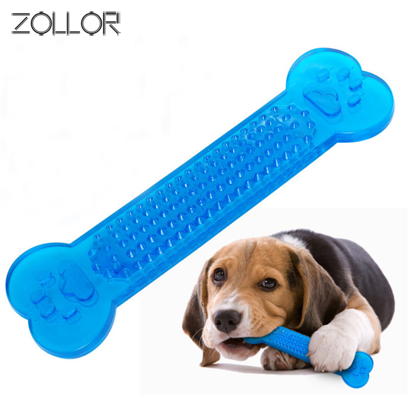 ZOLLOR Pet Toy Small Dog Cat Chew Toy Grinding Bite Chew Health Teeth Stick Bone Shape  Biting Playing Training Tooth Cleaning