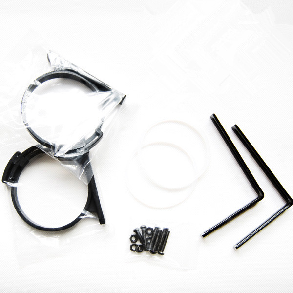 Water Cooling Cylindrical Glass Acrylic Water Tank 65MM Outer Diameter L  Type Bracket O Buckle Reservoir Holder For Computer