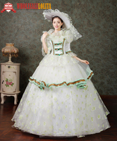 Gothic Period Dress Ball Gown 18th Century Court Dress / Victorian Style Dresses /Southern Belle Ball Gown