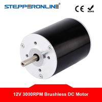 DC 12V 3000RPM DC Motor 0.048Nm 15W 1.9A Round diameter 42x53mm Brushless DC Motor for Electric DIY Motors