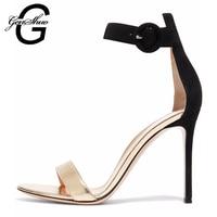 Women Sandals 2017 New Summer Fashion Sexy High Heel Gladiator Sandals Leather Ladies Elegant Peep Toe