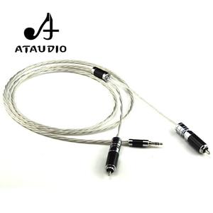Image 2 - ATAUDIO Cable Hifi de 3,5mm a 2rca, alta gama, 3,5 Aux a doble RCA, MP3/MP4, amplificador de ordenador, Cable de interconector