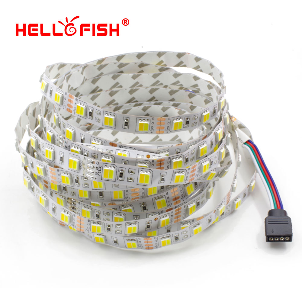 Hello Fish 5m 300 LED 5050 LED Strip light DC 12V White & Warm White Double Color LED Tape