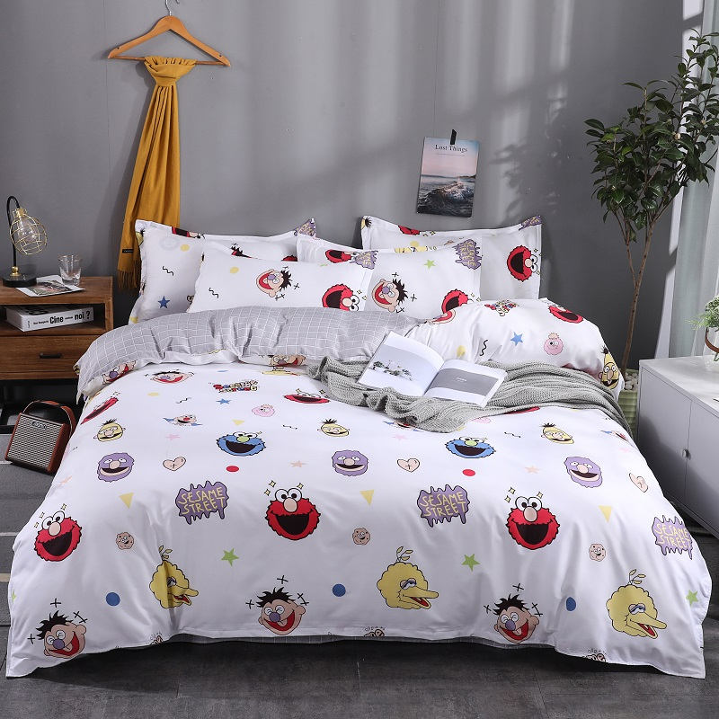 Polyester Fabric Cotton Soft Bedspread Bedding Bed Linen Fiat Bed Sheet Duvet Cover Pillowcase 4Pcs Bedding Sets/Queen King SizePolyester Fabric Cotton Soft Bedspread Bedding Bed Linen Fiat Bed Sheet Duvet Cover Pillowcase 4Pcs Bedding Sets/Queen King Size