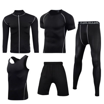 Men Sportswear Compression Sport Suits Quick Dry Running Sets Clothes Sports Joggers Training Gym Fitness Tracksuits Running Set 31