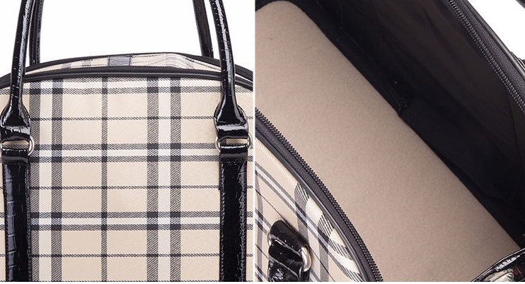 US $34 99 |Free shipping pet dog puppy cat carrier carried bag travel bag  backpack bag check plaid white classic pet bag-in Dog Carriers from Home &
