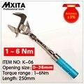 MXITA открытый Регулируемый динамометрический ключ 1-6 нм точность 3% гаечный ключ со сменной головкой
