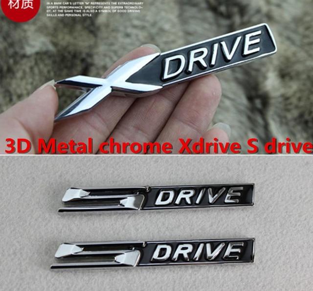 Free shipping 10sets lot e x sdrive zinc alloy automobile stickers
