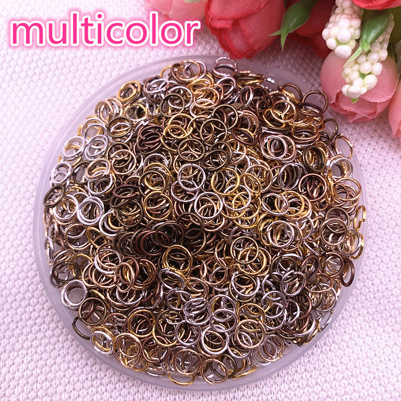 New 4/6/8mm Metal Open Go Rings Split Rings Connectors For Jewelry Making Findings Multicolour