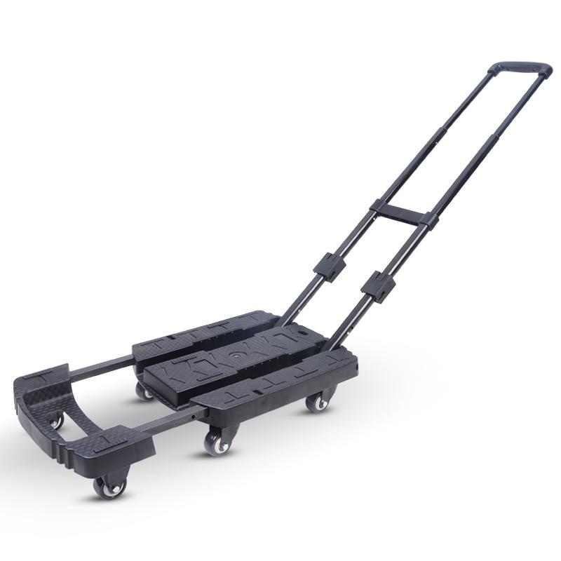 Поворотное Колесо 360 фунтов, складная тележка для багажа, ручной грузовик для автомобиля, аксессуары для путешествий, регулируемое шасси