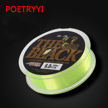 POETRYYI 100M nylon fluorescent green fishing line Super strong Japanese raw silk pesca 30