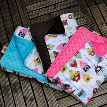 High Quality Fleece Fabric Minky Print Blankets Baby Blanket Designs