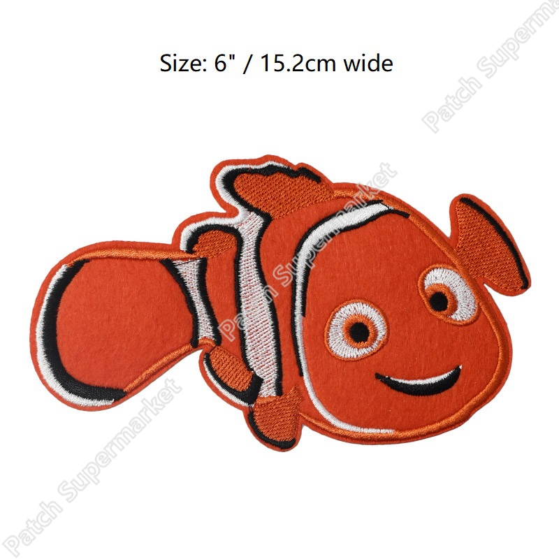 Disney Cartoon Movie finding nemo embroidered Iron//Sew On Patch