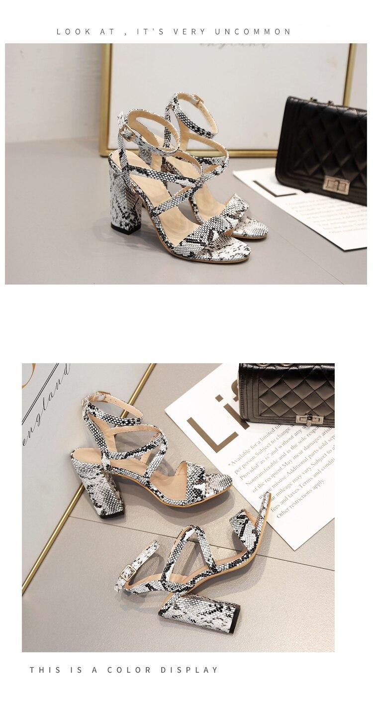 HTB1zJt7aOfrK1RjSspbq6A4pFXap Aneikeh 2019 Summer New PU Shoes Women Sandals Sexy Open Toe Gladiator High Heels Women Shoes Big Size 41 42 Sandalias mujer