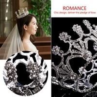 Luxus Strass Blumen Braut Crown Hochzeit Haarschmuck Tiara Geschenk Für Frauen coroa tiara de noiva de princesa couronne