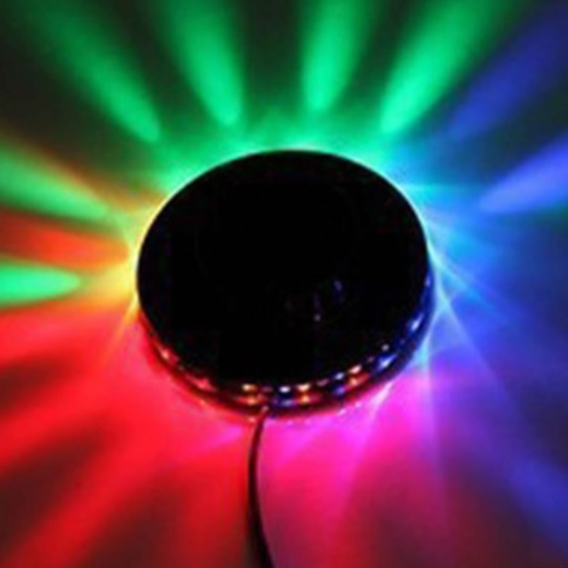 SPLEVISI Voice-activated Rotating LED RGB Stage Light for Party Disco DJ Bar Pub KTV Clublight POP