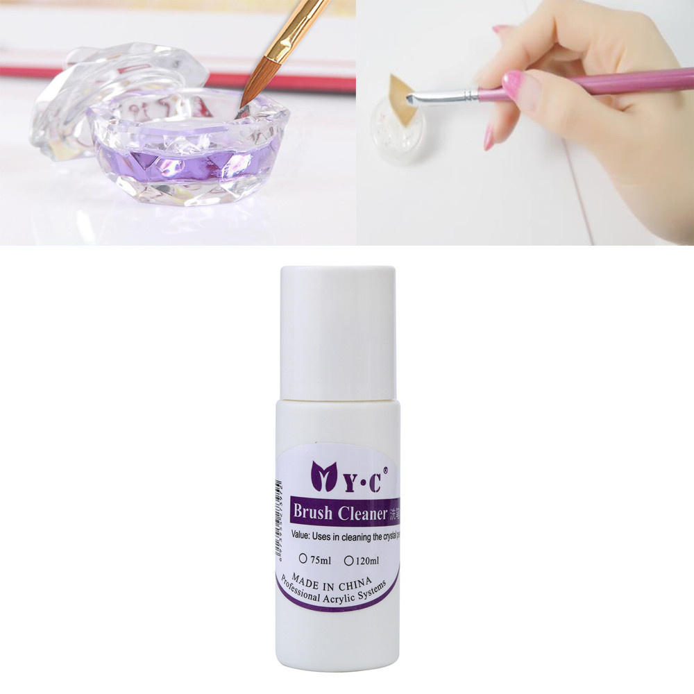 Hot Pro 75ml/bootle Nail Art Acrylic Brush Cleaner Liquid Cleanser Clean Nail Tool Pen&B ...