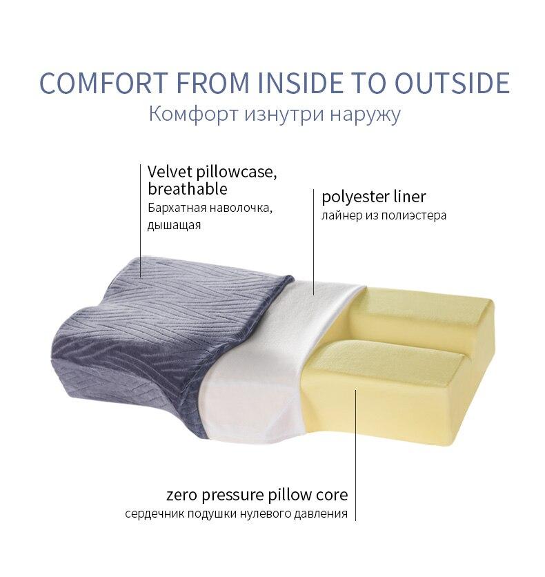 de carvão cervical pescoço corpo proteger travesseiros