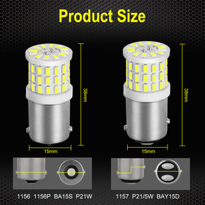 Image 5 - 2pcs New 1156 BA15S P21W LED 1157 BAY15D P21/5W LED Bulbs R5W Car Turn Signal Brake Lights 1200LM White 12V Auto Lamp