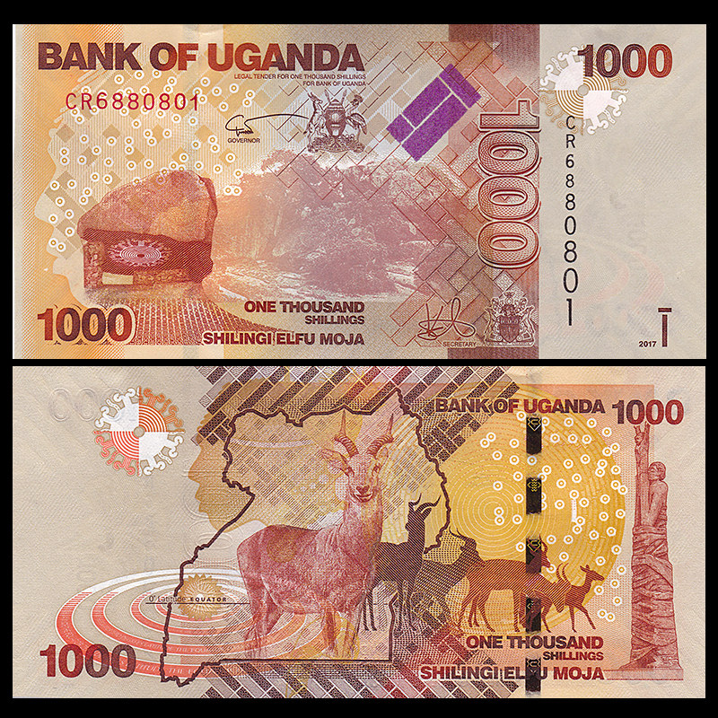 Uganda 1000 Shilling, 2017, P-NEW, UNC,  Uncirculated, Banknotes, Collection, Gift, Africa, Genuine Original Paper Notes
