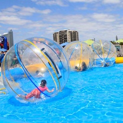 2 m PVC Gonflable Marche de L'eau Balle résistant à l'usure jouets d'eau bal de danse avec Fermeture Éclair pour Piscine En Plein Air