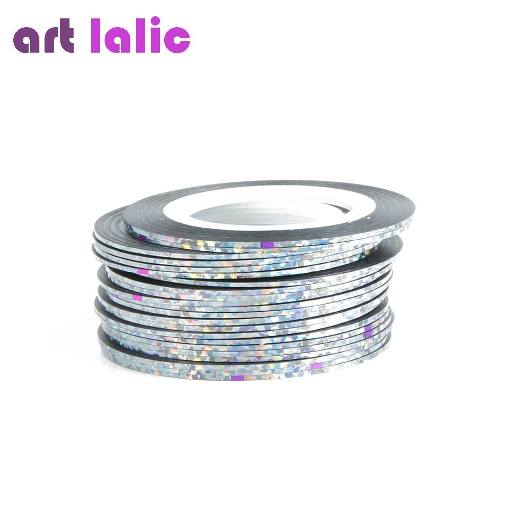 30 Stücke 30 Multicolor Mischfarben Rolls klebeband linie Nagel ...