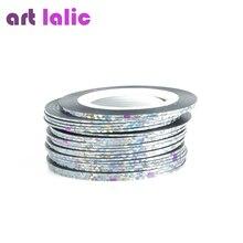30Pcs 30 Multicolor Mixed Colors Rolls Striping Tape Line Nail Art Decoration Sticker DIY Nail Tips