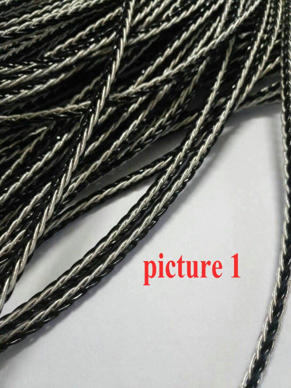 1 Reel 25M DIY 8 core Earphone Audio Upgrade cable for headphone Headset Single Crystal Copper