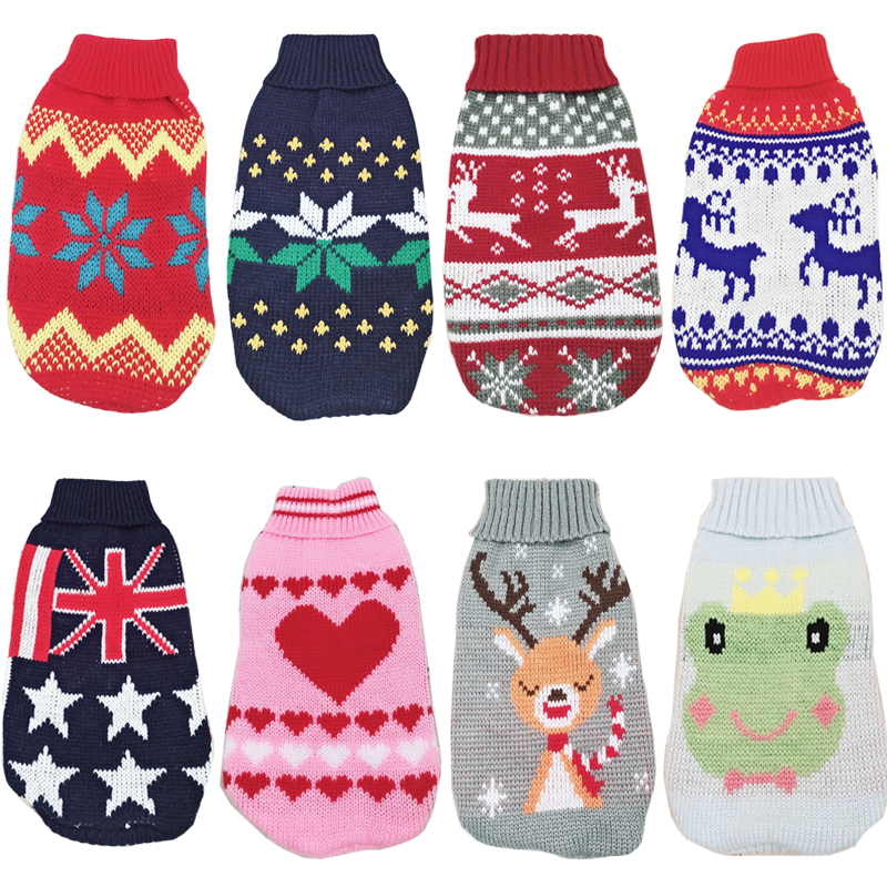 Pet Dog Sweater Pullover Winter Warm Clothes For Small Dogs Chihuahua Shih Tzu Pug Outfits Puppy Coat Jacket Dogs Pets Clothing
