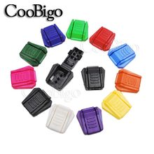 11 Colors Pick Cord Ends Clip Zipper Puller Paracord Cord Tether Tip Lock Plastic Outdoor Backpack Bag Parts Accessories(China)