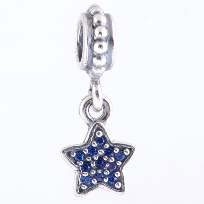 Original 925 sterling silver blue cz pave star charm pendant fits original 925 sterling silver blue cz pave star charm pendant fits pandora charms bracelet and bangles diy jewelry making in charms from jewelry aloadofball Gallery
