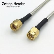 1 шт. Полужесткий RG402 кабель SMA штекер RF коаксиальный удлинитель Перемычка отрезок провода 10 см 15 см 20 см 30 см 50 см