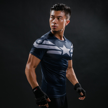 Comic Superhero Compression Shirt Captain America Iron man Fit