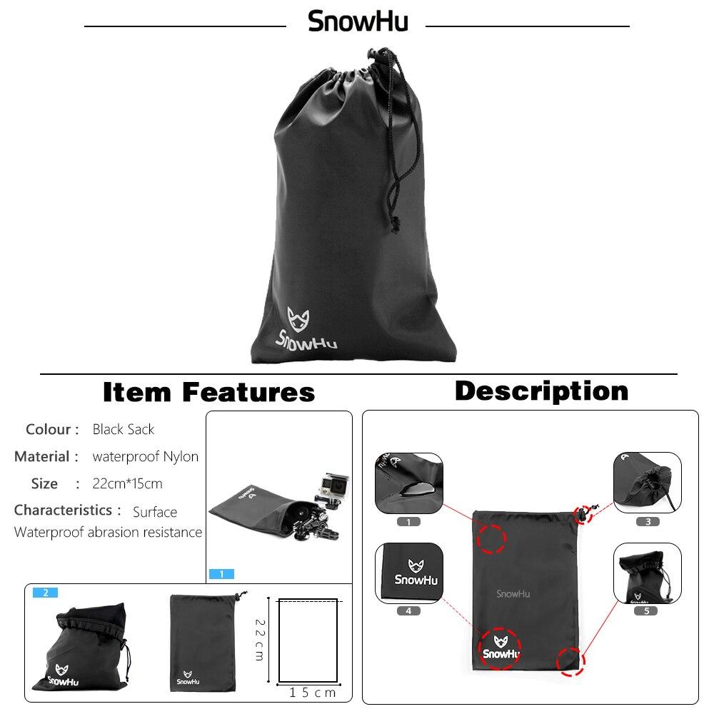 SnowHu para Gopro accesorios set para go pro hero 7 6 5 4 3 kit de montaje para SJ5000 para Eken para xiaomi para yi 4 k trípode de cámara GS13 - 6