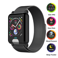 Smart Watch Band Heart Rate Monitor ECG+PPG Fitness Tracker Blood Pressure Watch Smart Bracelet for IOS Android Watch Phone