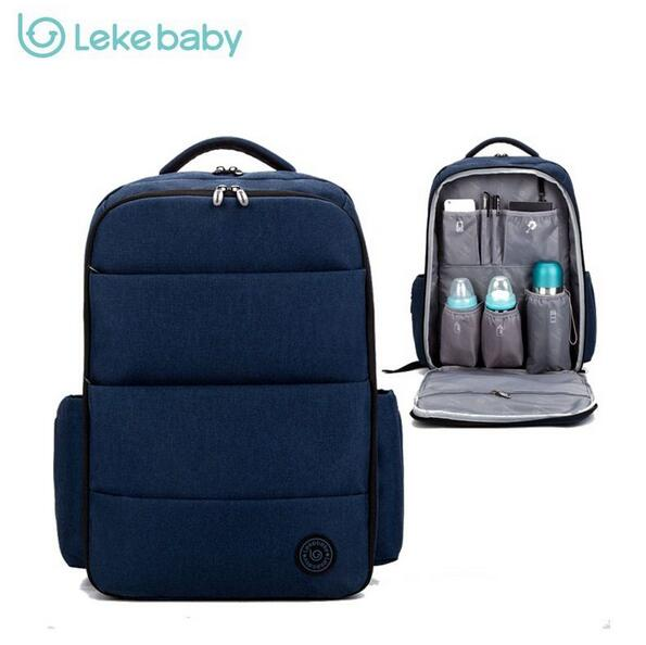 Lekebaby baby travel stroller nappy mummy maternity diapering diaper tote bag backpack for moms daddy baby bags mochila maternal 3 pcs set baby nappy changing bag fashion ladies solid hobos handbag big capacity infant diapering bags travel stroller bag