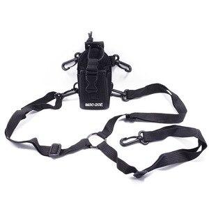 Image 5 - 2pcs Abbree MSC 20E Portable Radio Nylon Case Cover Handsfree Holder for Walkie Talkie Baofeng UV 5R UV XR UV 9R Plus BF 888S