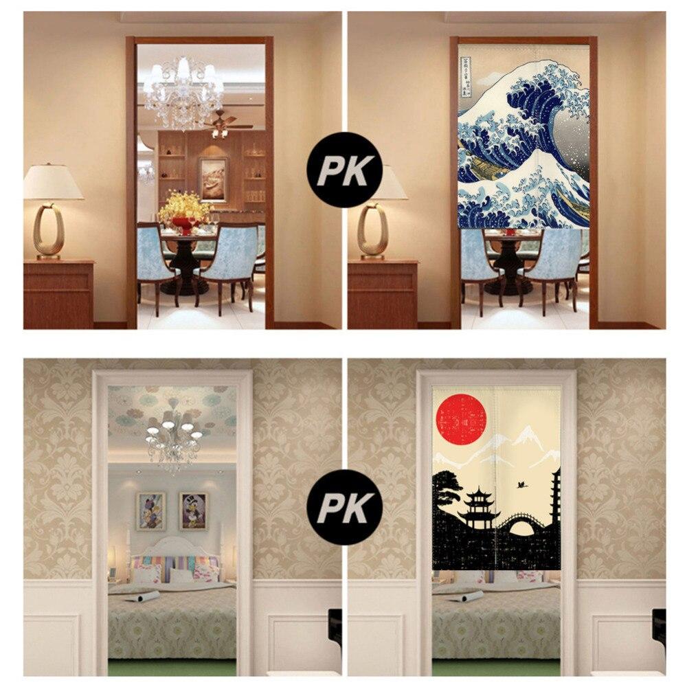 Online get cheap bedroom screen door aliexpress alibaba group landscape noren japanese style door curtain canvas painting curtain doorway bedroom door curtains with adjustable rod vtopaller Gallery