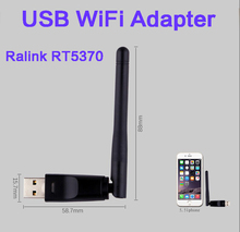 USB WiFi Adapter Ralink RT5370 150Mbps Wi-Fi Adaptador Wi-fi Card 802.11n/g/b with Antenna 2dbi Receiver for Laptop computer Pc