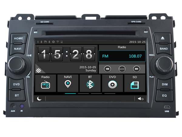 toyota land cruiser 120 prado dvd player with gps navigation