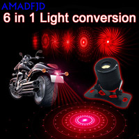 Motorcycle Modified Accessories Anti Rear End Warning Fog Laser Spotlights Rear Taillights Led Decorative Lights