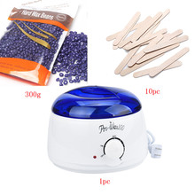 US Plug 220-240V Electric Hair Removal Bean Wiping Sticks Hot 300g Wax Warmer Heater Pot Depilatory Set Machine lavender Smell