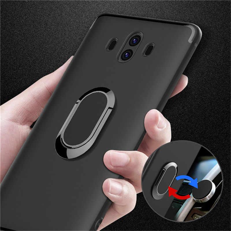 Неодимовый магнит кольцо на палец, чехол для huawei p20 lite p20 pro mate 20pro силиконовый Жесткий чехол из поликарбоната с держателем для huawei p10 honor 8, 9, 10