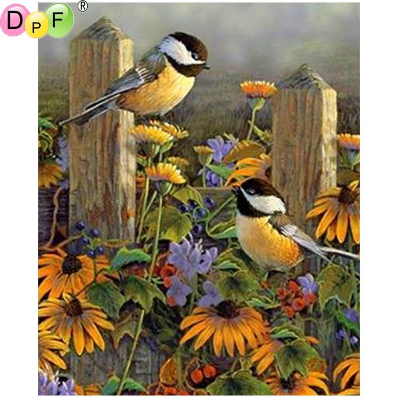 DPF DIY Two birds 5D home decor wall painting mosaic square rhinestone diamond painting cross stitch crafts diamond embroideryDPF DIY Two birds 5D home decor wall painting mosaic square rhinestone diamond painting cross stitch crafts diamond embroidery