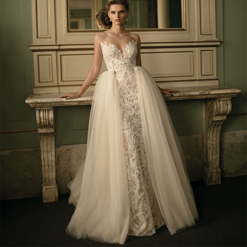 Wedding Dresses With Detachable Tail