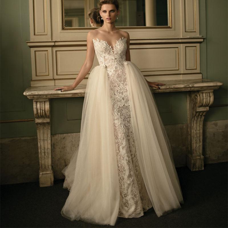 vestidos de novia con cola desmontable – mini vestidos