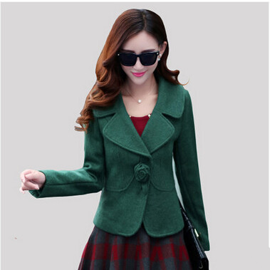 2019 New Autumn Winter Coat Women Slim Was Thin Short Wool Coat Lapel Single Button Coats