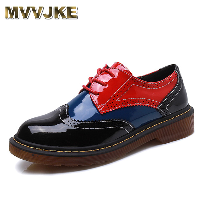 MVVJKE shoes women Platform Women's Oxfords spring Shoes Woman Flats Casual Vintage Shoes punk calzado mujer creepers footwear 2018 platform shoes woman thick heels oxford shoes for women patent leather creepers casual oxfords spring flats women shoes